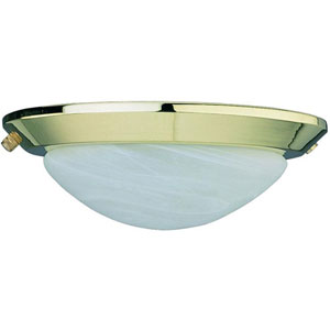 Polished Brass Low Profile EPACT Ceiling Fan Light Kit