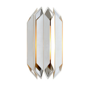 Haiku White with Polished Stainless Accents One-Light Wall Sconce