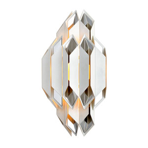 Haiku White with Polished Stainless Accents Two-Light Wall Sconce