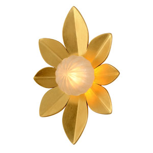 Gigi Gold Leaf Accents 15-Inch LED Wall Sconce