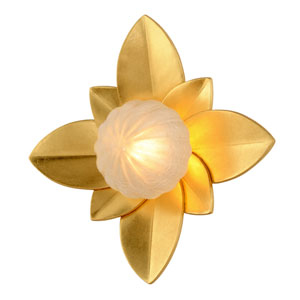 Gigi Gold Leaf Accents 12-Inch LED Wall Sconce