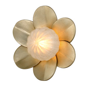 Gigi Silver Leaf Accents 10-Inch LED Wall Sconce