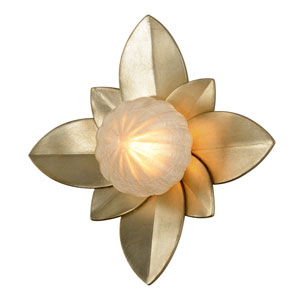 Gigi Silver Leaf Accents 12-Inch LED Wall Sconce