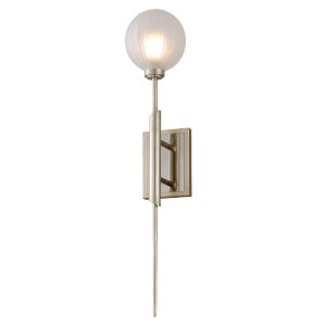 Tempest Grey LED One-Light Wall Sconce With Glass Shade