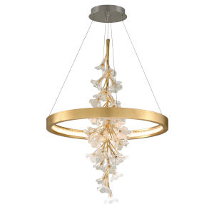 Jasmine Gold LED 28-Inch One-Light Pendant With Glass Shade
