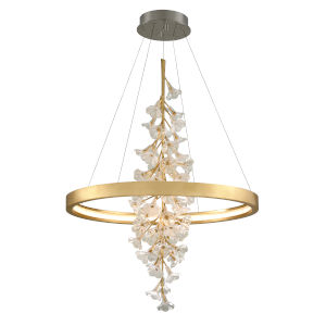 Jasmine Gold LED One-Light Pendant With Glass Shade