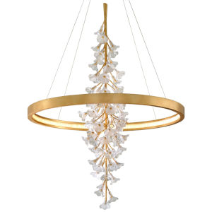 Jasmine Gold 60-Inch Adjustable LED Pendant