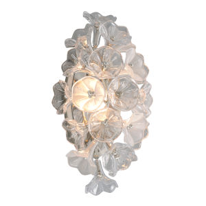 Jasmine Grey LED One-Light Wall Sconce With Glass Florals