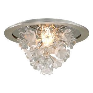 Jasmine Grey LED One-Light Flush Mount With Glass Florals