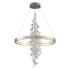 Jasmine Grey LED One-Light Pendant With Glass Shade