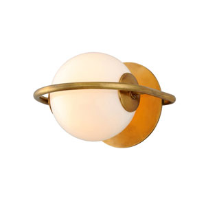 Everley Vintage Brass One-Light Wall Sconce