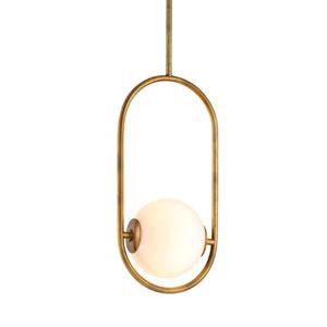 Everley Vintage Brass Six-Inch One-Light Mini-Pendant