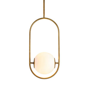 Everley Vintage Brass 10-Inch One-Light Pendant