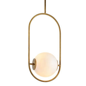 Everley Vintage Brass 13-Inch One-Light Pendant