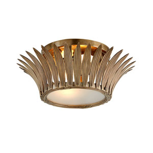 Romanov Vintage Brass Two-Light Flush Mount