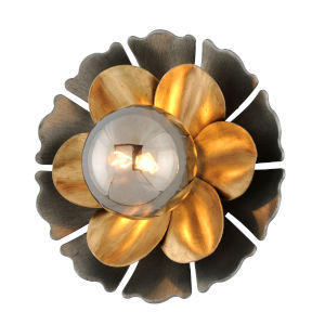 Magic Garden Black, Bronze One-Light Wall Sconce With Glass Shade