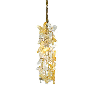 Milan Gold Leaf One-Light Mini-Pendant