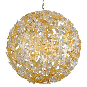 Milan Gold Leaf 12-Light Pendant