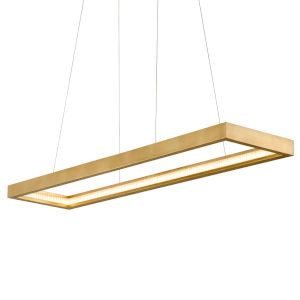 Jasmine Gold 14-Inch Adjustable LED Pendant