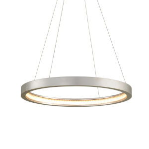 Jasmine Silver 28-Inch Adjustable LED Pendant