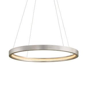 Jasmine Silver 36-Inch Adjustable LED Pendant