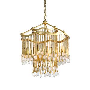 Kiara Gold Leaf Six-Light Chandelier