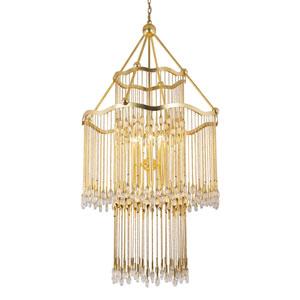 Kiara Gold Leaf 16-Light Chandelier