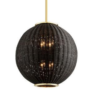 Caba Caba Polished Brass 22-Inch Eight-Light Pendant