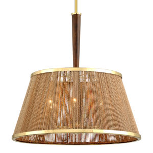 Rhodos Polished Brass 24-Inch Six-Light Pendant