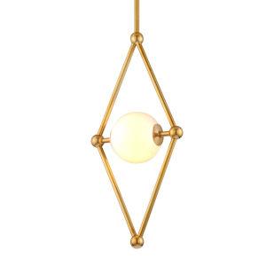 Bickley Vintage Brass 12-Inch One-Light Pendant