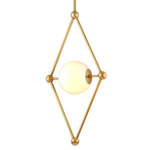 Bickley Vintage Brass 20-Inch One-Light Pendant