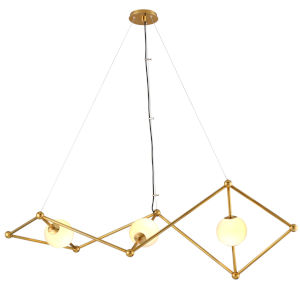 Bickley Vintage Brass 20-Inch Three-Light Chandelier