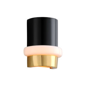 Beckenham Vintage Polished Brass and Black One-Light ADA Wall Sconce