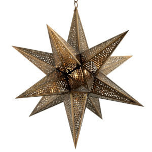 Star Of The East Old World Bronze 30-Inch Three-Light Chandelier