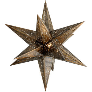 Star Of The East Old World Bronze 40-Inch Five-Light Chandelier