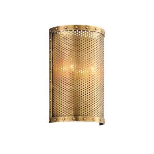 Rotunda Old World Brass Nine-Inch Two-Light ADA Wall Sconce