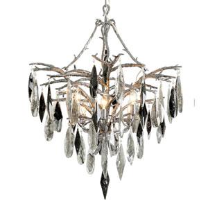 Nera Blackened Silver Leaf Six-Light Chandelier