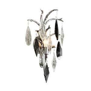 Nera Blackened Silver Leaf One-Light Wall Sconce