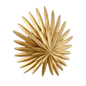 Savvy Vintage Gold Leaf One-Light Wall Sconce