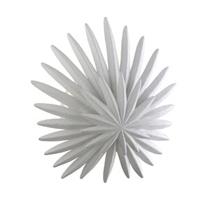 Savvy Gesso White One-Light Wall Sconce