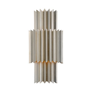 Moxy Silver Leaf Two-Light Wall Sconce