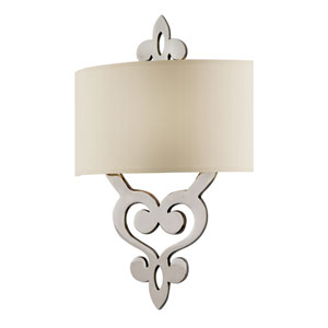 Olivia Polished Nickel Two-Light Wall Sconce