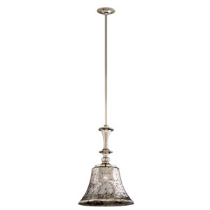 Argento Polished Nickel One-Light Large Wide Mini Pendant