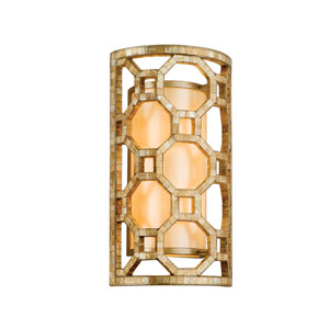 Regatta Stained Silver Leaf Two-Light Wall Sconce