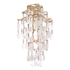 Dolce Champagne Leaf Two-Light Large Wall Sconce