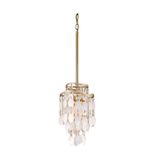 Dolce Champagne Leaf One-Light Mini Pendant