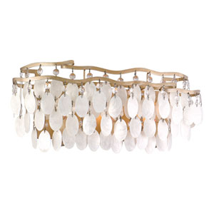 Dolce Champagne Leaf Three-Light Bath Fixture
