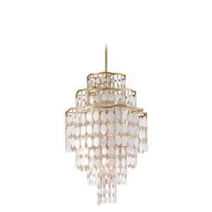 Dolce Champagne Leaf 12-Light Tall Pendant