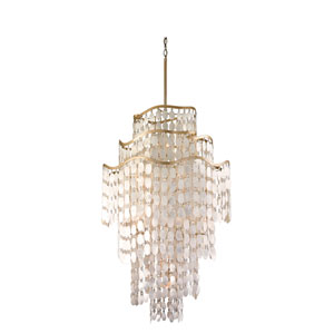 Dolce Champagne Leaf 19-Light Pendant