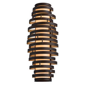 Vertigo Three-Light Bronze with Gold Leaf Wall Sconce